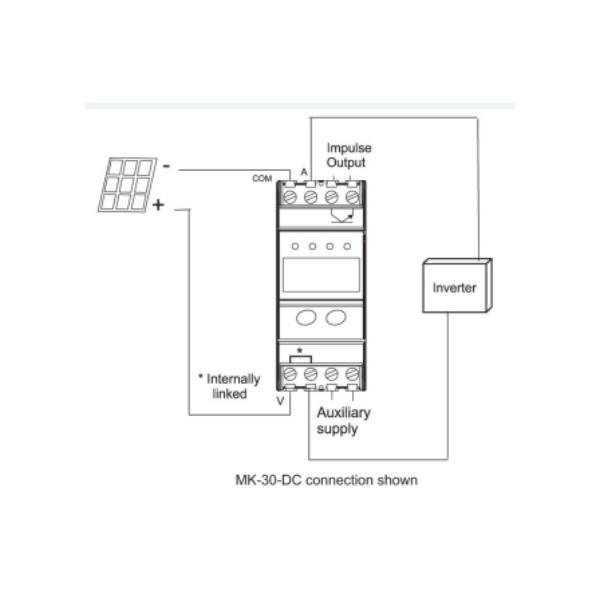 Dc Energy Meter Circuit Diagram | Mk Dc Series Dc Energy Meter For Solar Pv Applications Measurlogic